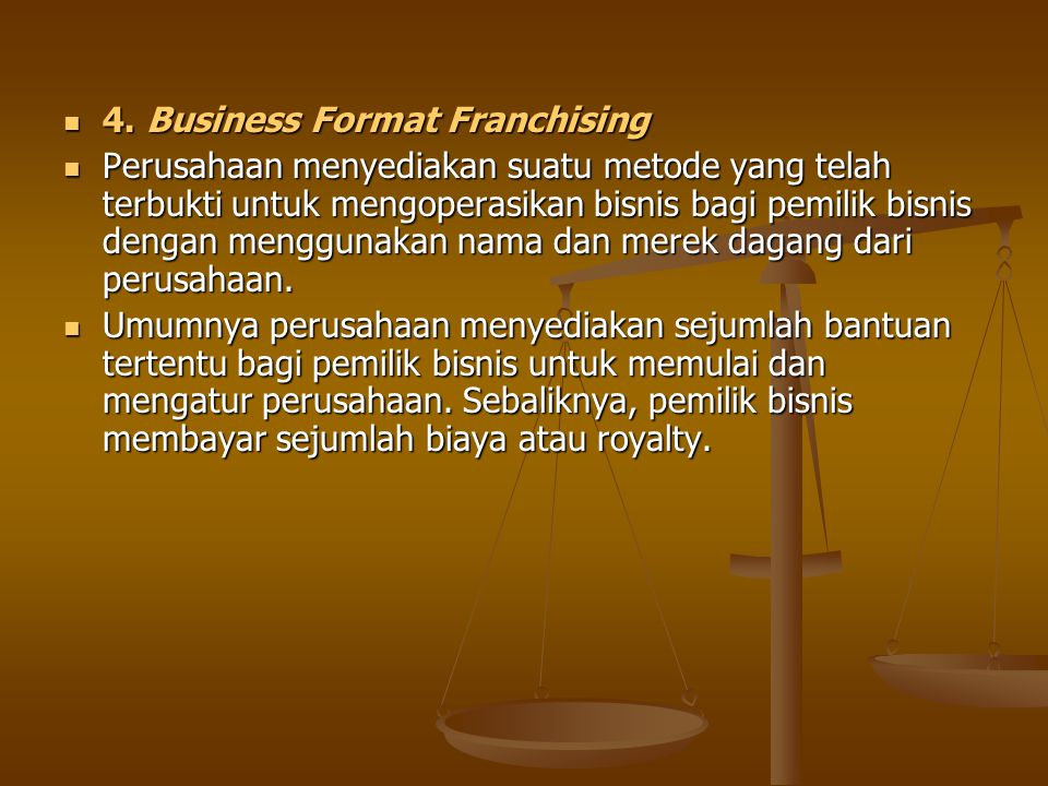 4. Business Format Franchising