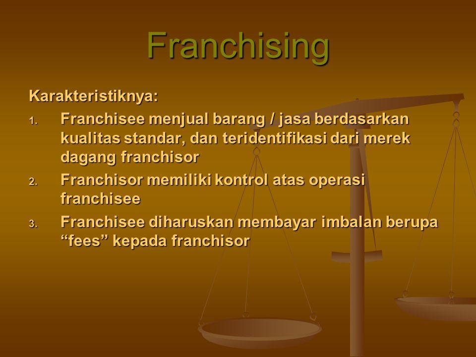 Franchising Karakteristiknya: