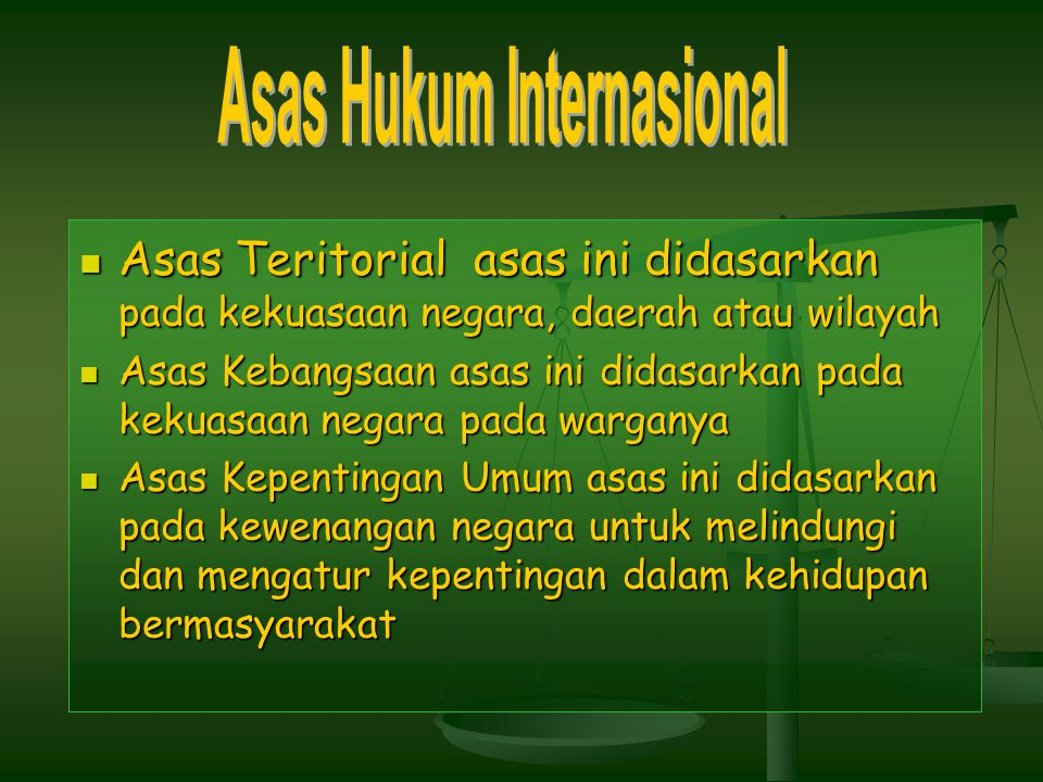 Asas Hukum Internasional