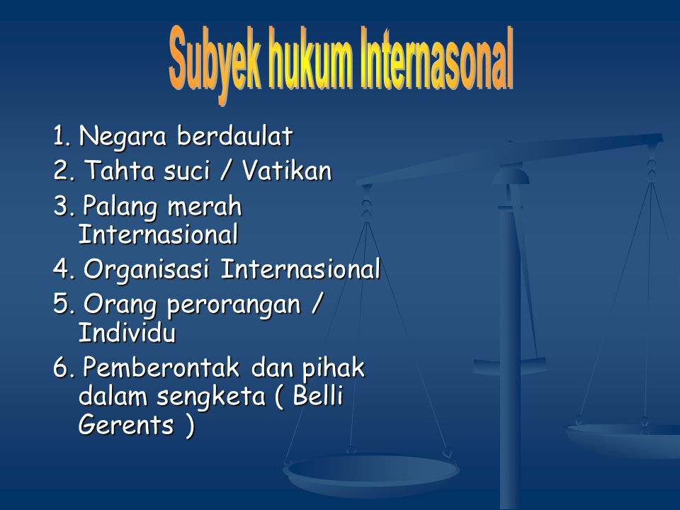 Subyek hukum Internasonal