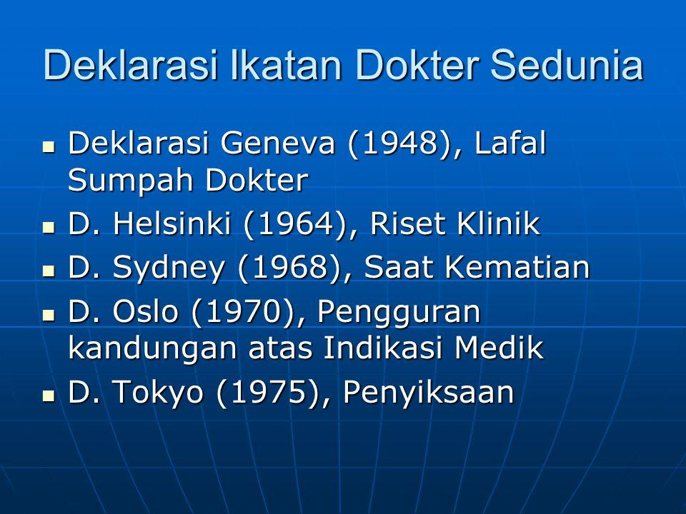 Deklarasi Ikatan Dokter Sedunia