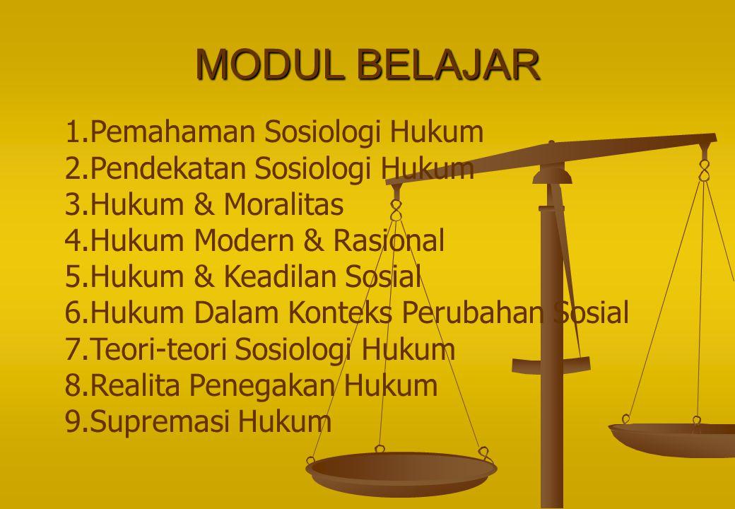 MODUL BELAJAR Pemahaman Sosiologi Hukum Pendekatan Sosiologi Hukum