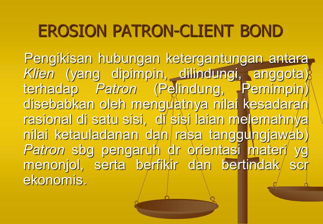 EROSION PATRON-CLIENT BOND