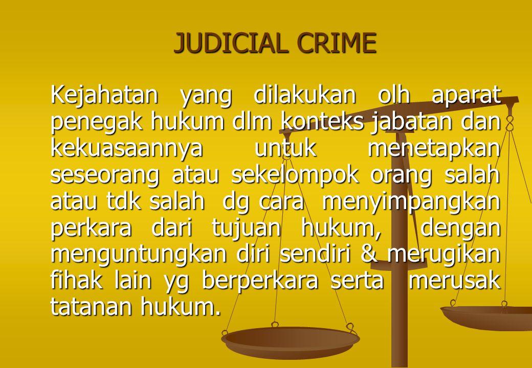 JUDICIAL CRIME
