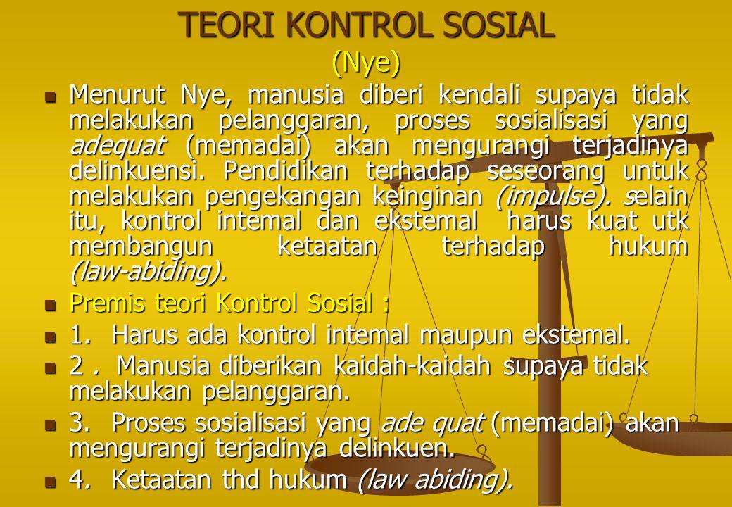 TEORI KONTROL SOSIAL (Nye)