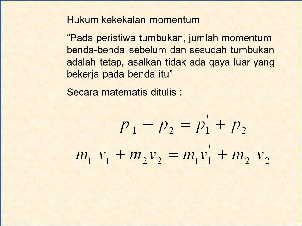 Hukum kekekalan momentum