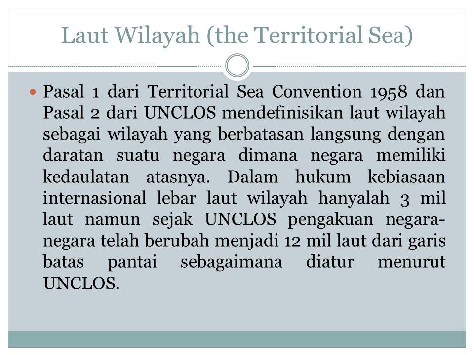 Laut Wilayah (the Territorial Sea)
