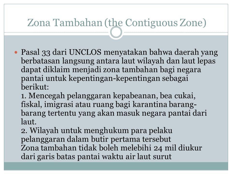Zona Tambahan (the Contiguous Zone)