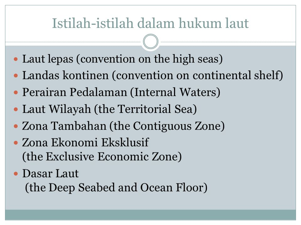 Istilah-istilah dalam hukum laut
