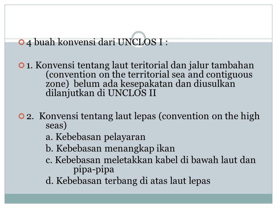 4 buah konvensi dari UNCLOS I :