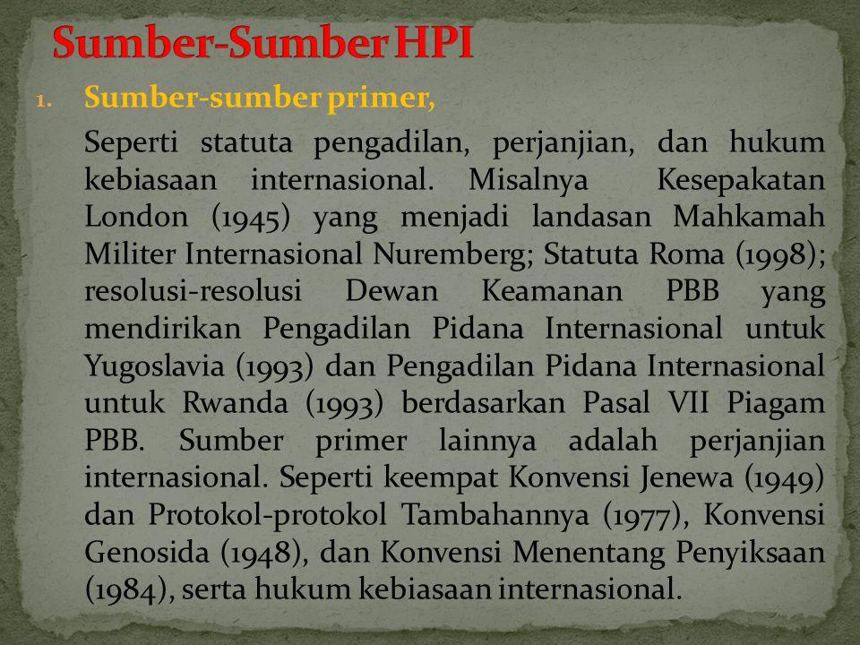 Sumber-Sumber HPI Sumber-sumber primer,