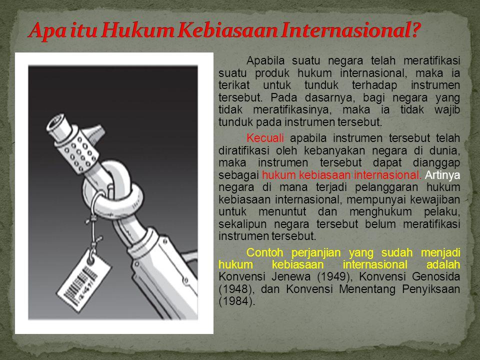 Apa itu Hukum Kebiasaan Internasional