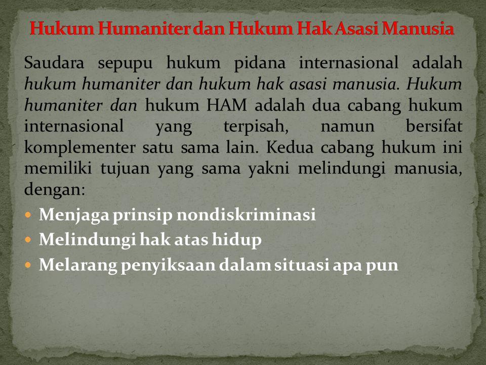 Hukum Humaniter dan Hukum Hak Asasi Manusia