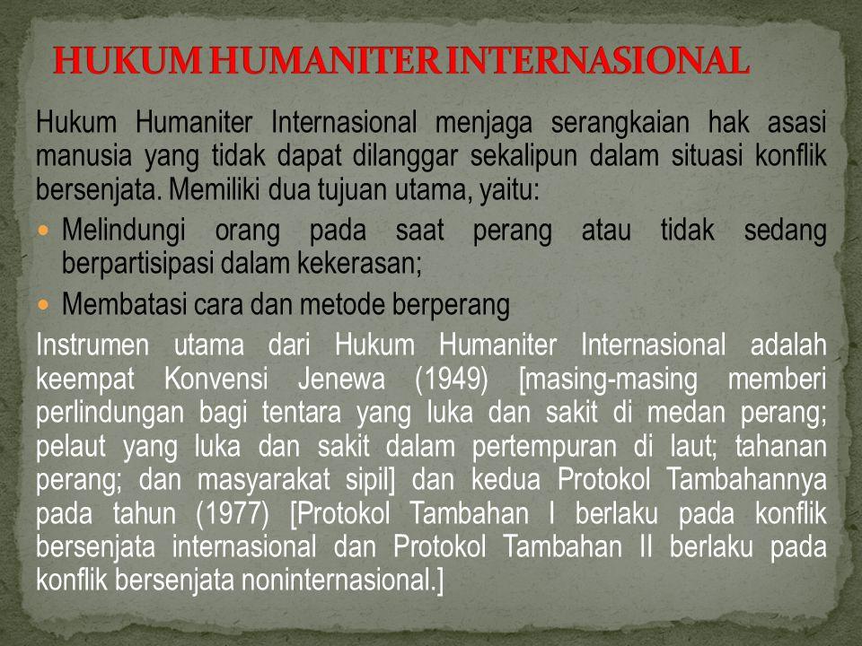 HUKUM HUMANITER INTERNASIONAL