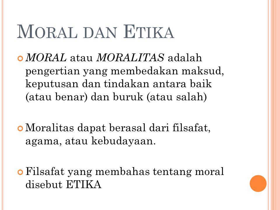 Moral dan Etika