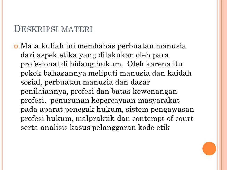 Deskripsi materi