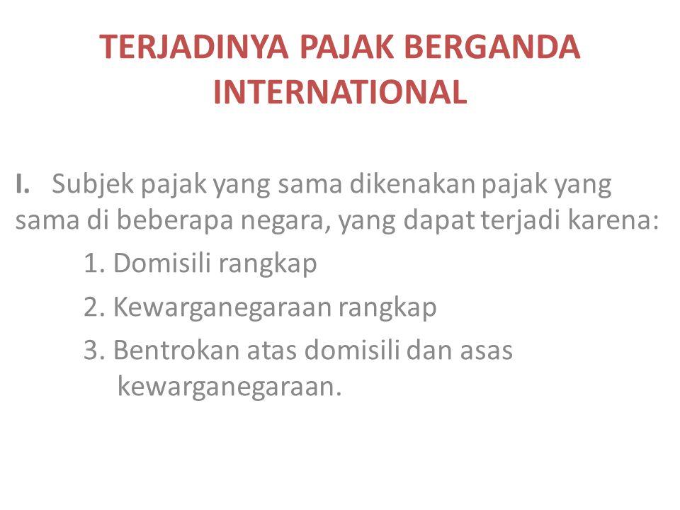 TERJADINYA PAJAK BERGANDA INTERNATIONAL