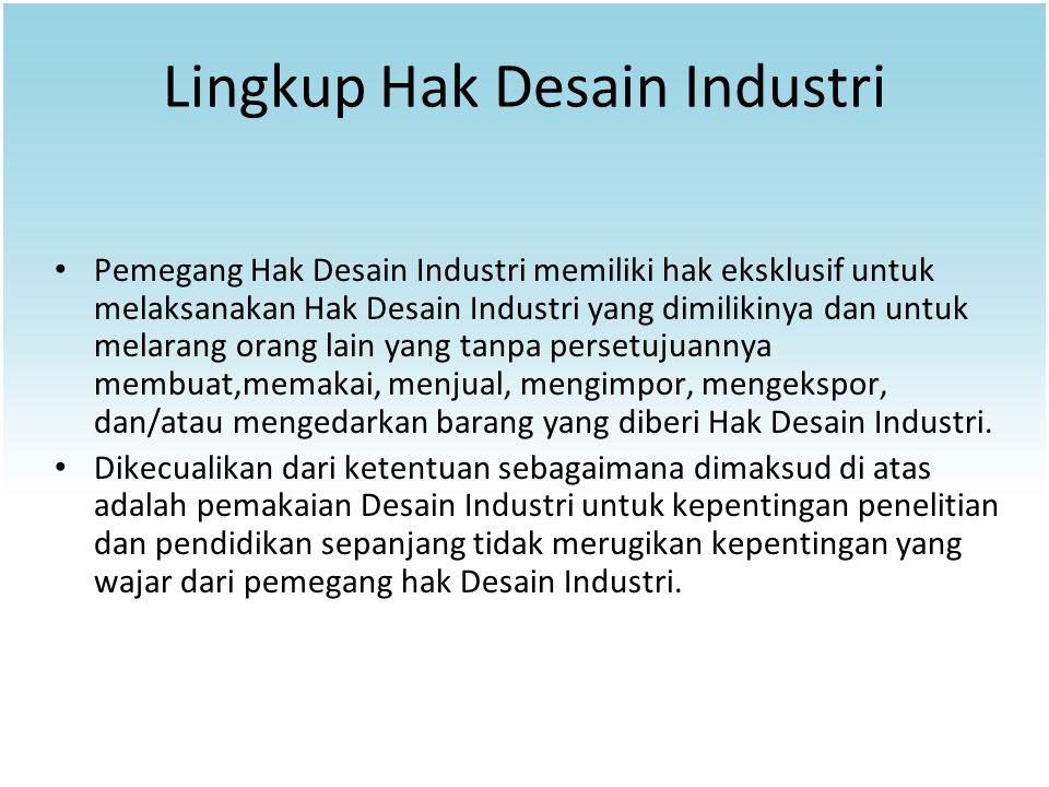 Lingkup Hak Desain Industri
