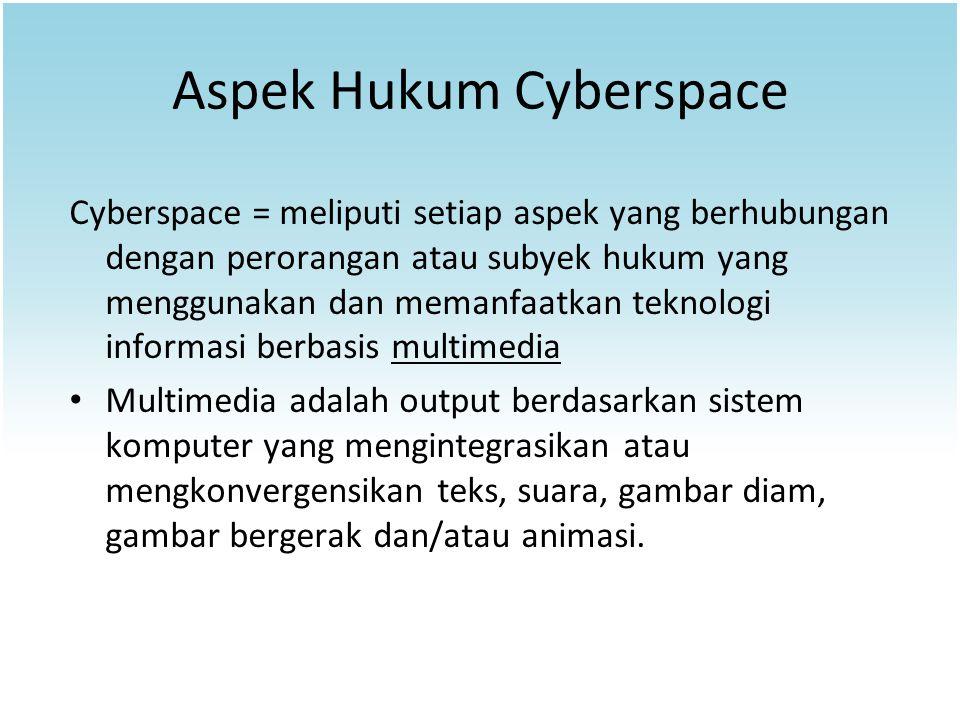 Aspek Hukum Cyberspace
