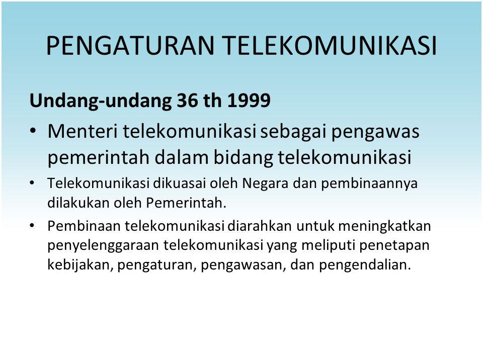 PENGATURAN TELEKOMUNIKASI