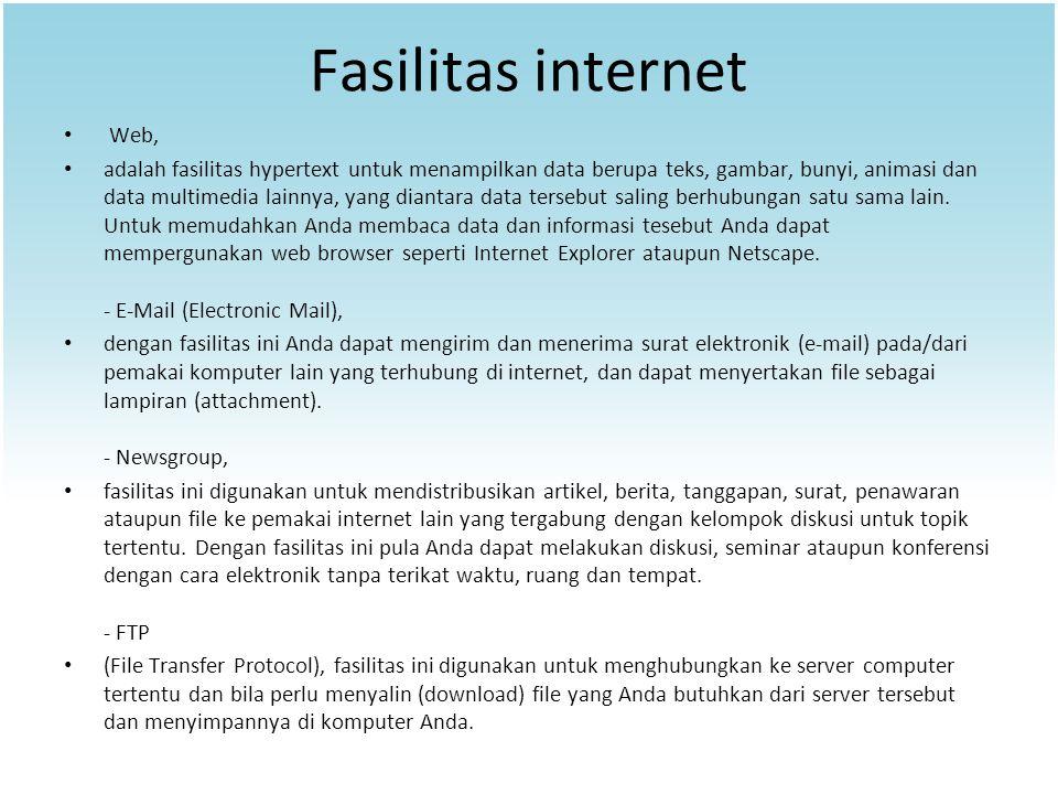 Fasilitas internet Web,