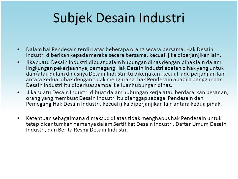 Subjek Desain Industri