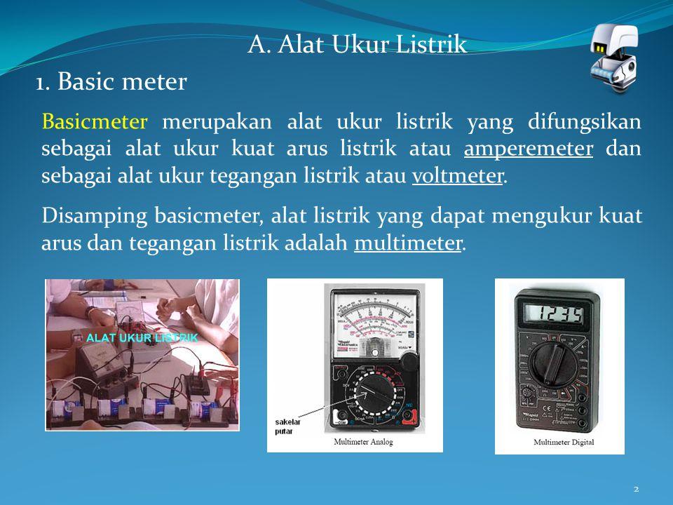 A. Alat Ukur Listrik 1. Basic meter