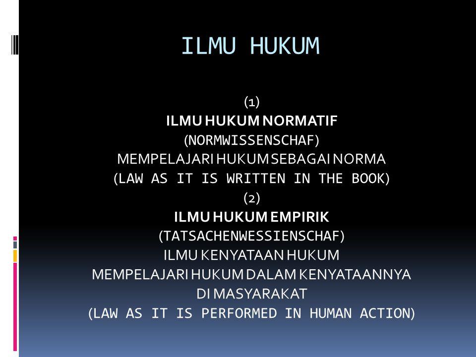ILMU HUKUM