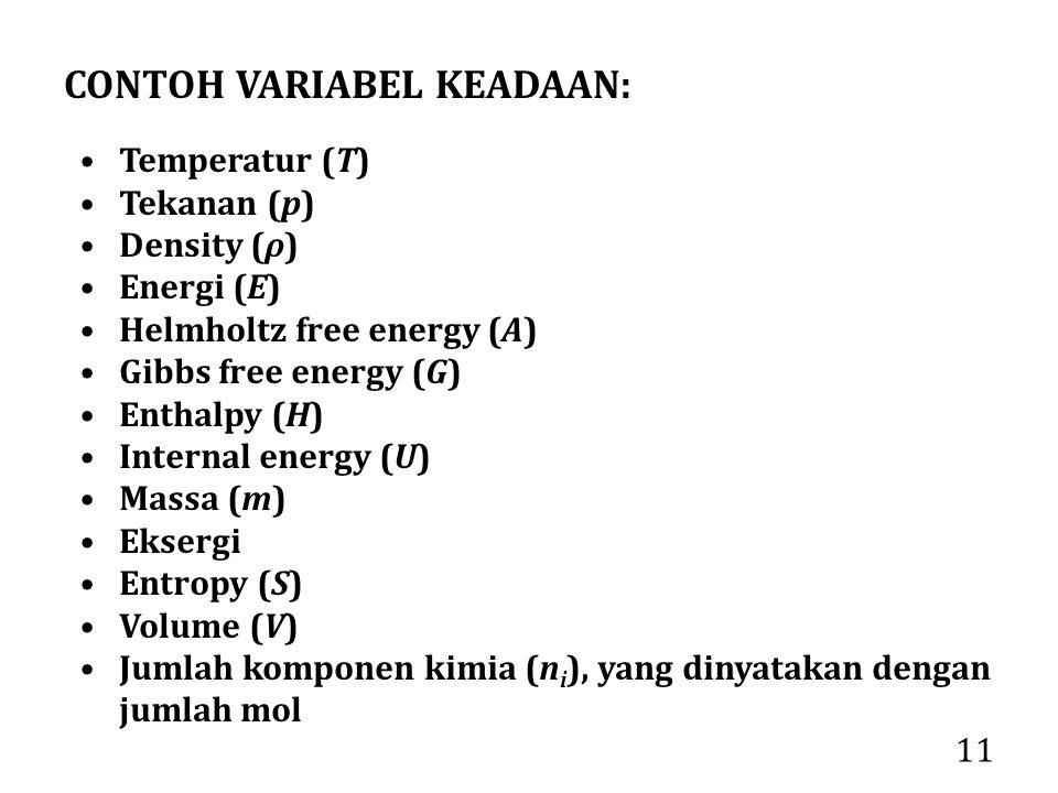 CONTOH VARIABEL KEADAAN:
