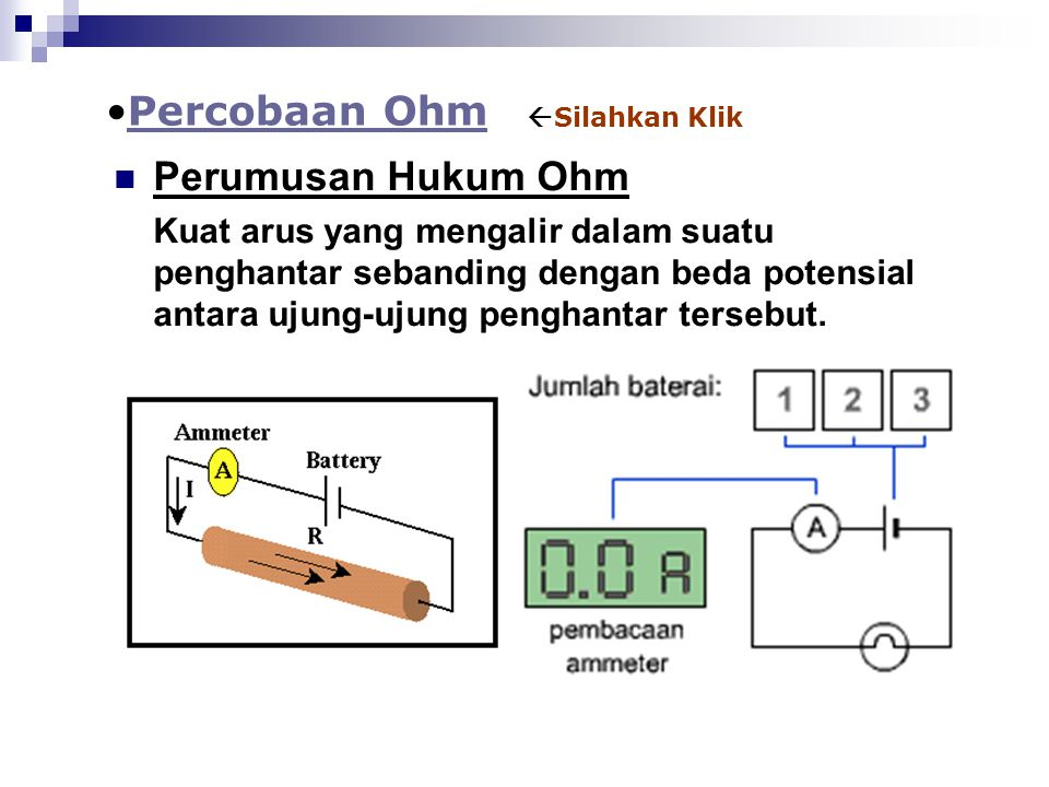 Percobaan Ohm Perumusan Hukum Ohm