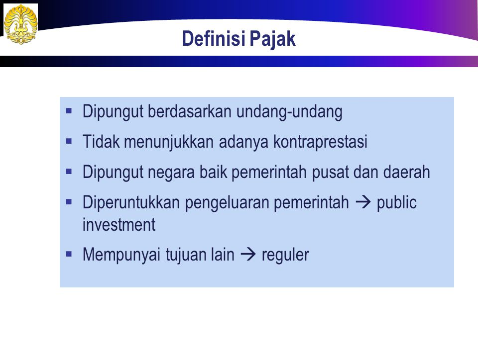 Definisi Pajak Dipungut berdasarkan undang-undang