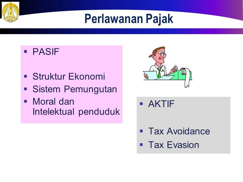 Perlawanan Pajak PASIF Struktur Ekonomi Sistem Pemungutan
