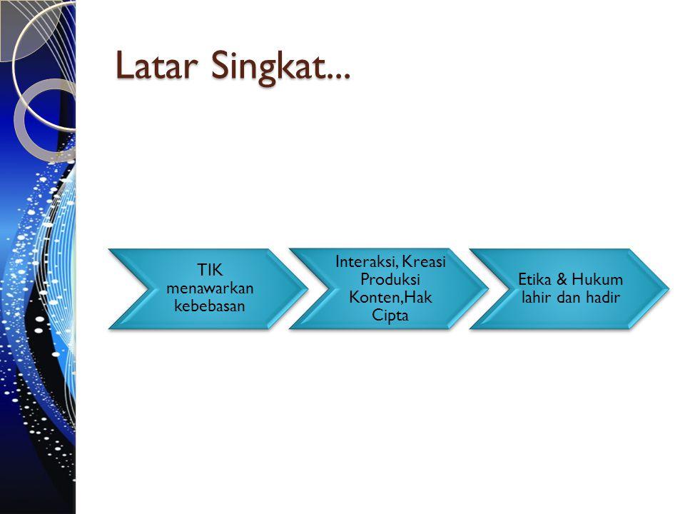 Latar Singkat... TIK menawarkan kebebasan