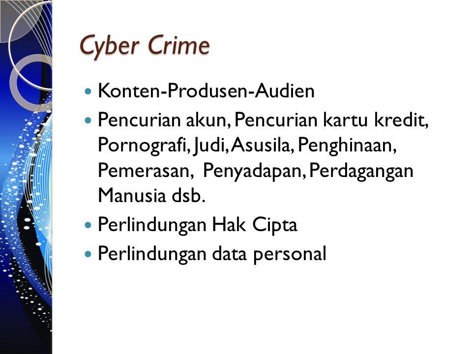 Cyber Crime Konten-Produsen-Audien