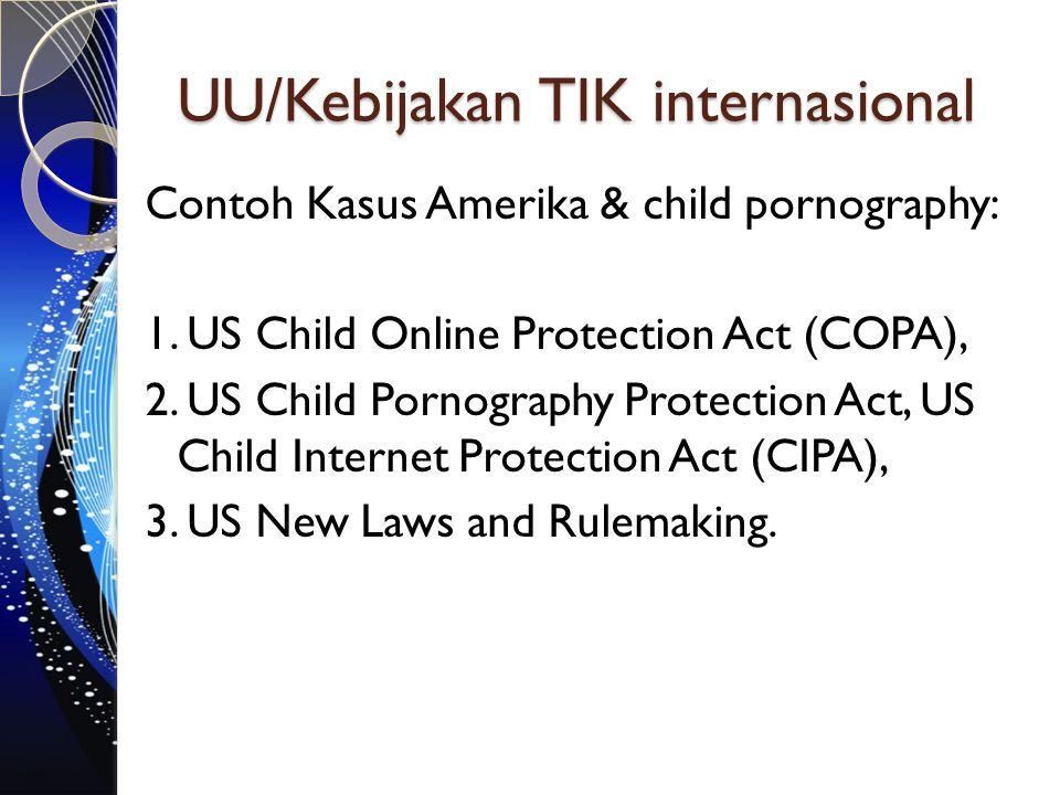 UU/Kebijakan TIK internasional