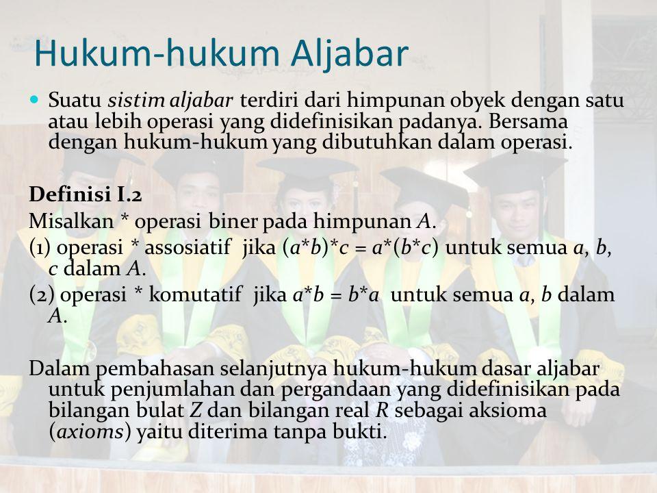 Hukum-hukum Aljabar