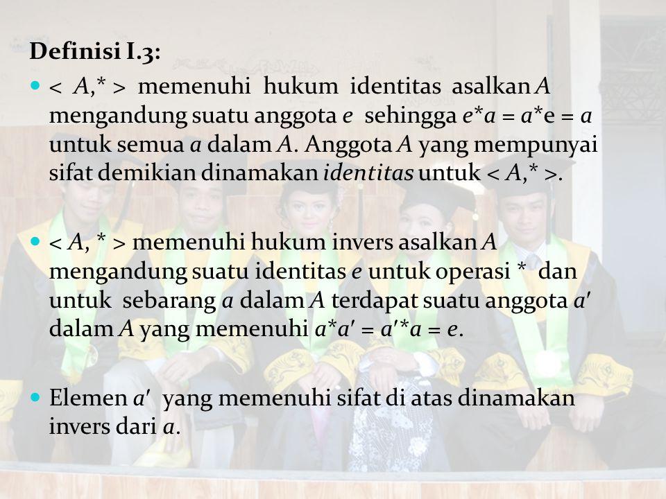 Definisi I.3: