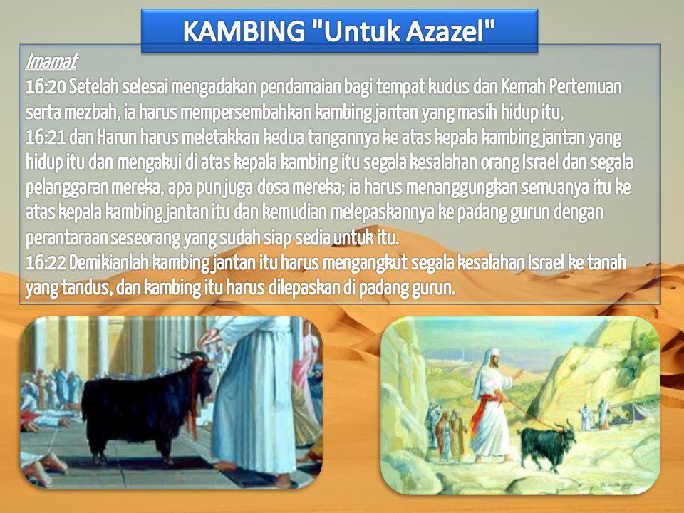 KAMBING Untuk Azazel Imamat