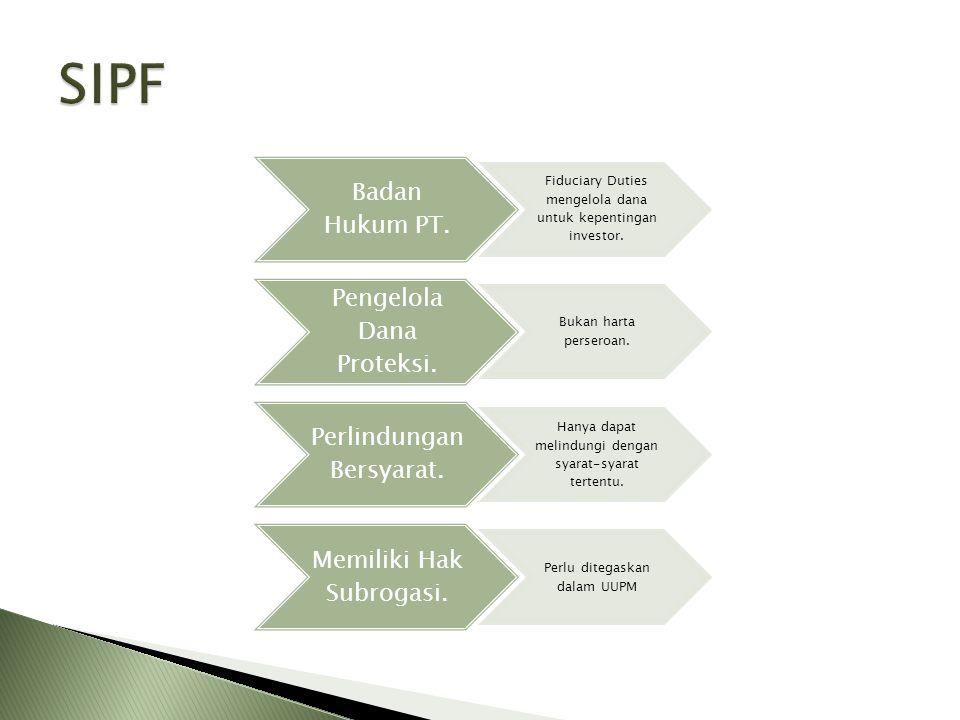 SIPF Badan Hukum PT. Pengelola Dana Proteksi. Perlindungan Bersyarat.
