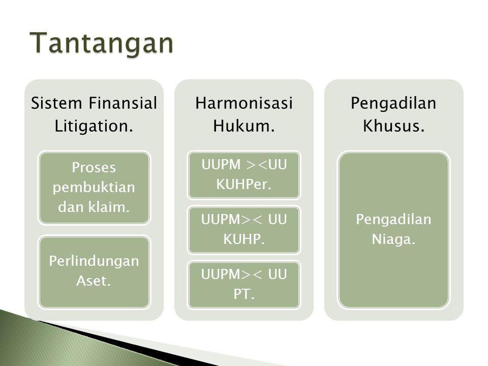 Tantangan Sistem Finansial Litigation. Harmonisasi Hukum.