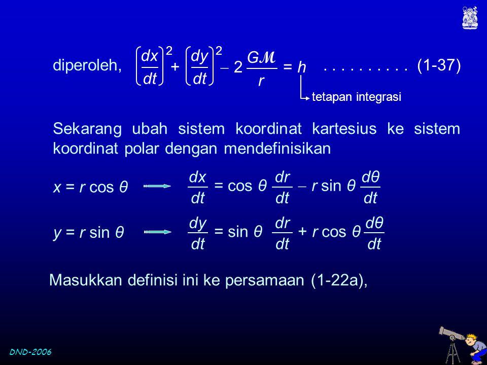 Masukkan definisi ini ke persamaan (1-22a),