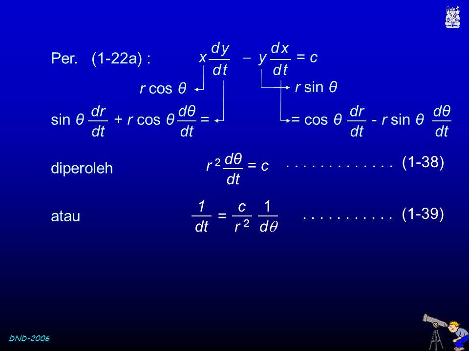 x  y = c d y. d t. d x. Per. (1-22a) : r cos θ. r sin θ. sin θ + r cos θ =