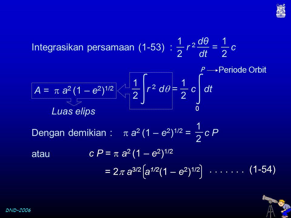 Integrasikan persamaan (1-53) :