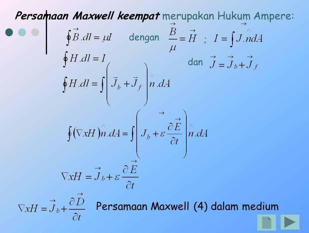 Persamaan Maxwell keempat merupakan Hukum Ampere:
