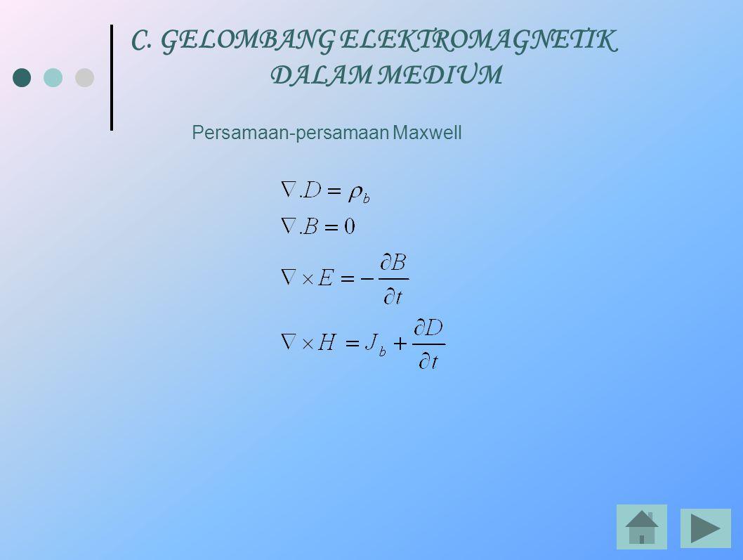 C. GELOMBANG ELEKTROMAGNETIK