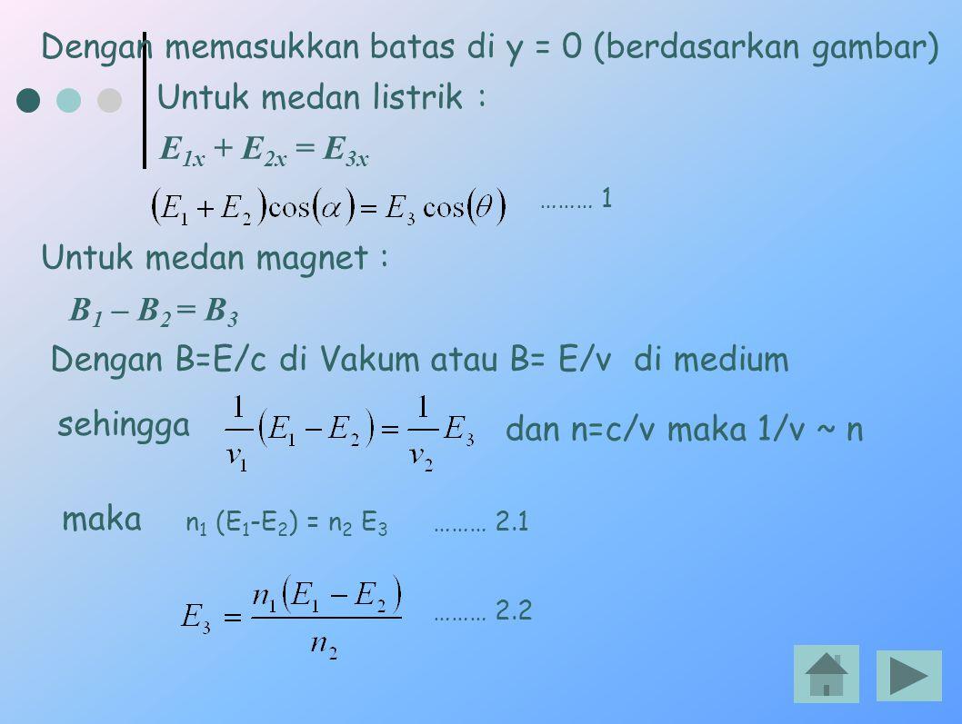 Dengan memasukkan batas di y = 0 (berdasarkan gambar)