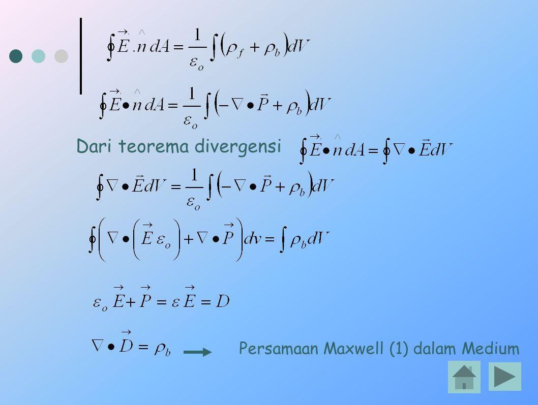 Dari teorema divergensi
