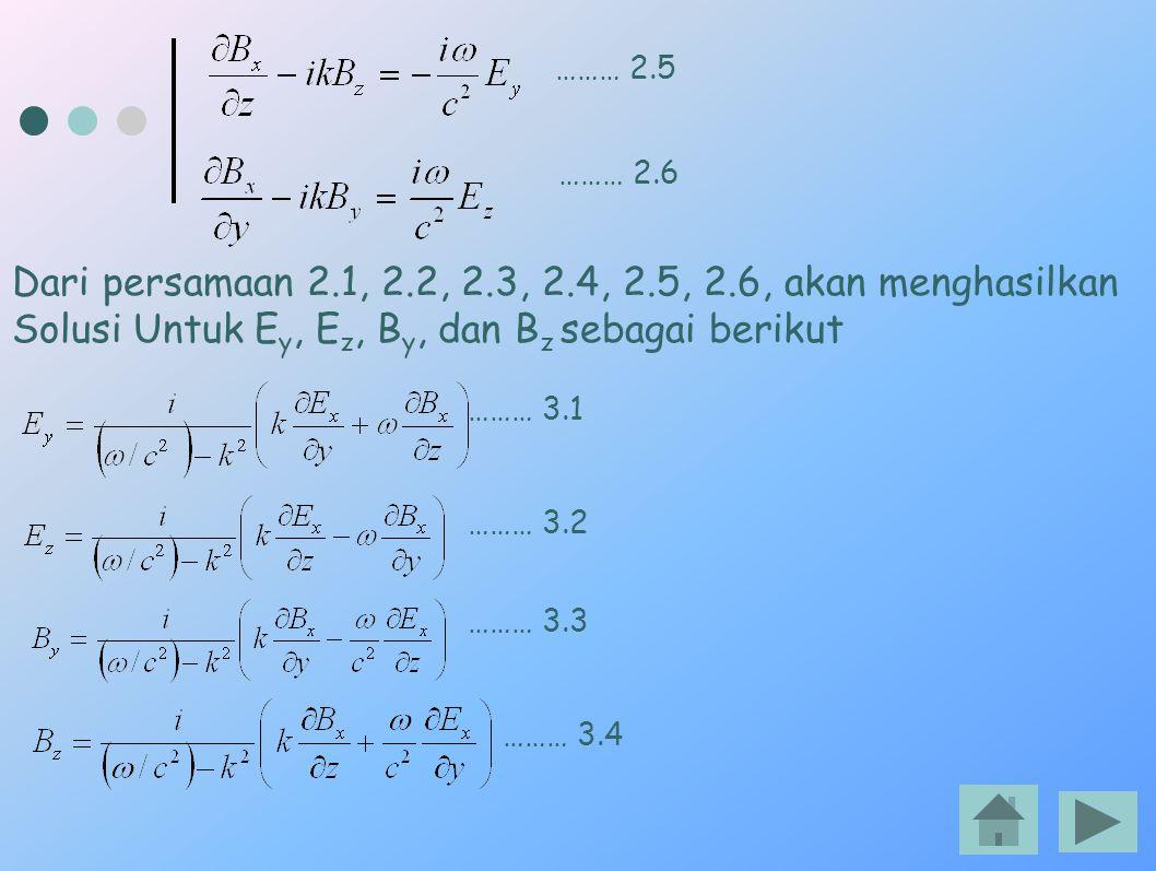 Dari persamaan 2.1, 2.2, 2.3, 2.4, 2.5, 2.6, akan menghasilkan