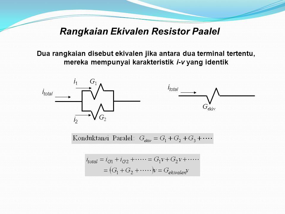 Rangkaian Ekivalen Resistor Paalel