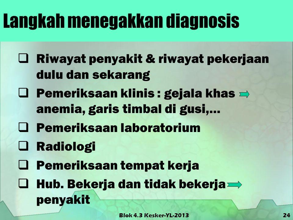 Langkah menegakkan diagnosis